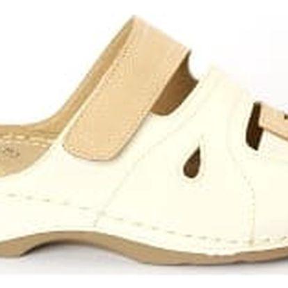 Dámské zdravotní pantofle KOKA 9 bílá/béžová