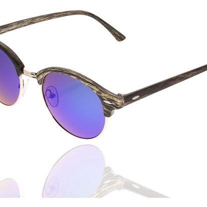 Sluneční brýle unisex Wood Sunglasses Purple design dřeva