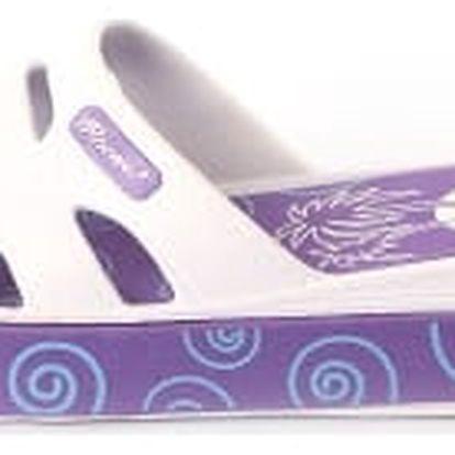 Dámské gumové pantofle - fialové