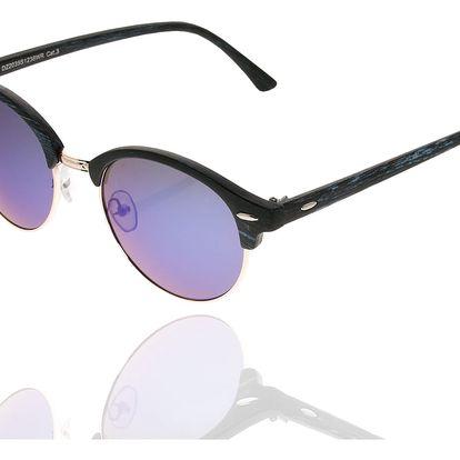 Sluneční brýle unisex Wood Sunglasses Light Blue design dřeva