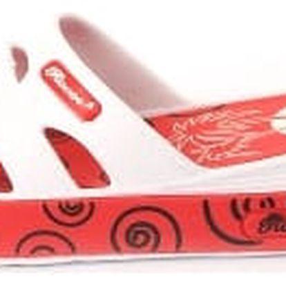 Dámské gumové pantofle - červené