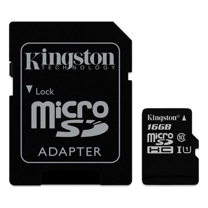 Paměťová karta Kingston 16GB UHS-I U1 (45R/10W) + adapter (SDC10G2/16GB)
