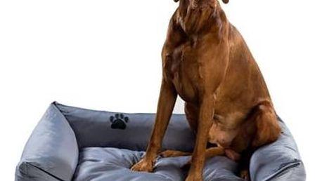 Pelech Argi pro psa obdélníkový - 70x55 cm / snímatelný potah šedý + Doprava zdarma