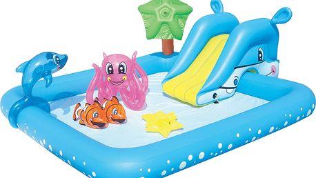 BESTWAY Nafukovací bazének se skluzavkou a doplňky 239 x 206 x 86 cm