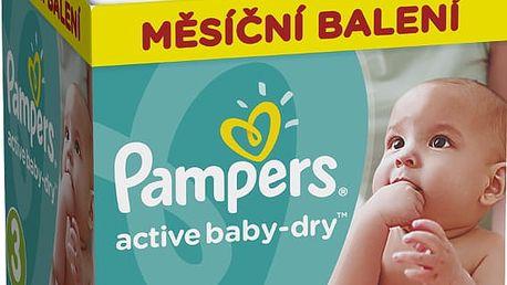 PAMPERS Active Baby 3 MIDI 208ks (5-9kg) MEGA Box PLUS, MĚSÍČNÍ ZÁSOBA - jednorázové pleny