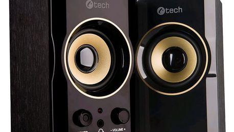 C-TECH SPK-11, PC, 2.0, černá/zlatá