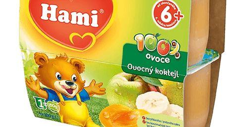 6x HAMI 100 % ovoce ovocný koktejl (4 x 100 g) - ovocný příkrm