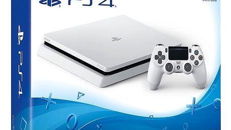 PlayStation 4 Slim, 500GB, bílá - PS719816164 + Gamepad Sony DS4 V2, černý v ceně 1400 Kč