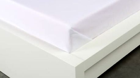 XPOSE ® Bavlněné prostěradlo - bílá 140x225 cm
