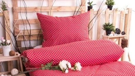XPOSE ® Bavlněné povlečení MARKÉTA - červená 140x200, 70x90