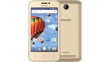 myPhone POCKET, zlatá - TELMYAPOCKETGO