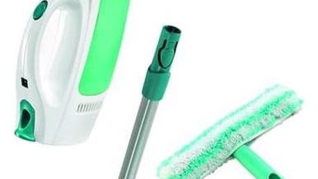 Čistič oken Leifheit Window Cleaner Window Cleaner s tyčí 51003 + mop na okna bílá barva/zelená barva