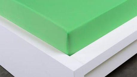 XPOSE ® Jersey prostěradlo jednolůžko - letní zelená 90x200 cm