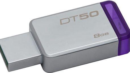Kingston DataTraveler 50 - 8GB, fialová - DT50/8GB