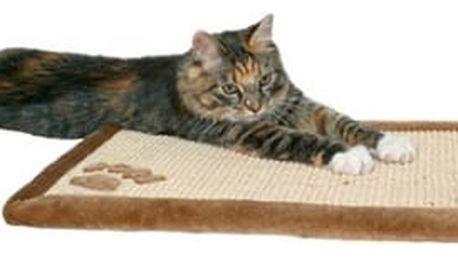 Škrabadlo pro kočky podložka Trixie 55*35cm hnědá