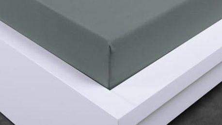 XPOSE ® Jersey prostěradlo Exclusive dvoulůžko - tmavě šedá 200x220 cm