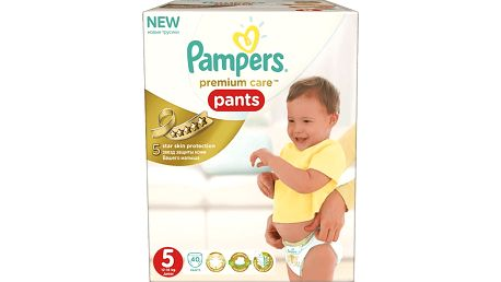 PAMPERS Premium Care Pants 5 JUNIOR 40ks (12-18 kg) - plenkové kalhotky