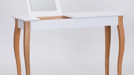 Bílý toaletní stolek se zrcadlem Ragaba Dressing Table,délka105cm - doprava zdarma!