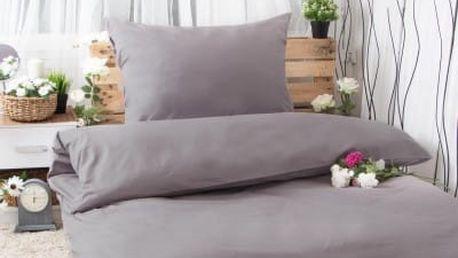XPOSE ® Bavlněné povlečení na dvě lůžka MICHAELA - šedá 140x200, 70x90