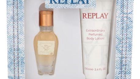 Replay Jeans Original! For Her dárková kazeta pro ženy toaletní voda 20 ml + tělové mléko 100 ml