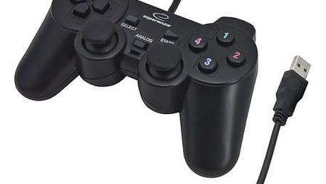 Gamepad Esperanza EG102 Warrior pro PC, PS3 (EG102) černý