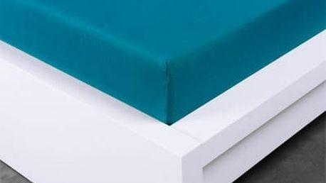 XPOSE ® Jersey prostěradlo jednolůžko - temně modrá 90x200 cm