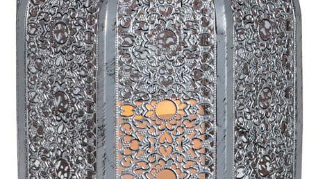Stříbrná LED lucerna Best Season Oriental