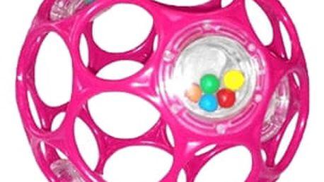 OBALL Hračka/chrastítko RATTLE 10 cm, 0m+ (růžové)