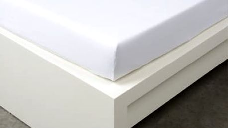 XPOSE ® Jersey prostěradlo Exclusive dvoulůžko - bílá 160x200 cm