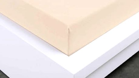 XPOSE ® Jersey prostěradlo Exclusive dvoulůžko - bílá káva 200x220 cm