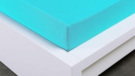 XPOSE ® Jersey prostěradlo Exclusive jednolůžko - azurová 90x200 cm