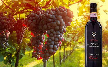 Toskánské víno Chianti z malého bio vinařství