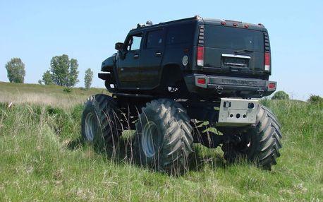 30 minut jízdy v Hummer Monster Truck HX na tankodromu