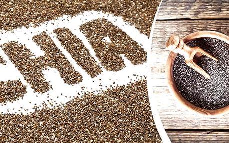 Zázračná chia semínka, 500 nebo 1000 gramů. Čistě přírodní produkt bez přídavků. Výborný prostředek na hubnutí bez vedlejších účinků. Dodávají tělu energii před i při fyzické námaze. Dodávají tělu důležité vitamíny, minerály, vlákninu a omega 3 mastné kys