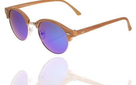 Sluneční brýle unisex Wood Sunglasses Dark Blue design dřeva