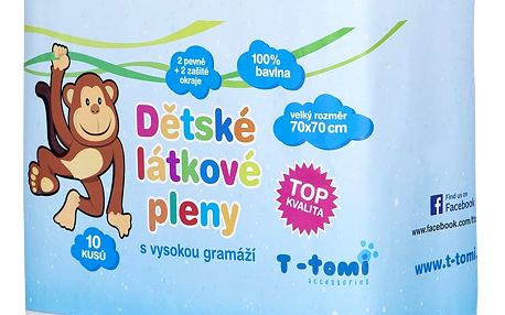 T-TOMI Látkové Tetra pleny – Top kvalita, 10 ks
