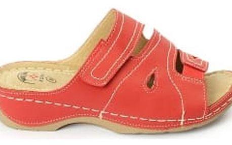 Dámské zdravotní pantofle KOKA 9 červená