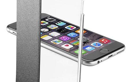 CellularLine Clear Book průhledné pouzdro pro Apple iPhone 6, černá - CLEARBOOKIPH647K