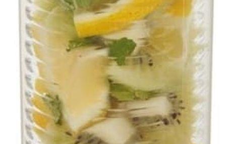 LOOOQS 500 ml láhev s košíkem na ovoce, zelená