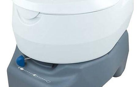 Chemická toaleta Campingaz 20L PORTABLE TOILET (odpadní nádrž 20L) šedá/bílá + Speciální toaletní papír Campingaz pro chemické toalety EURO SOFT (4 role) v hodnotě 119 Kč + Doprava zdarma