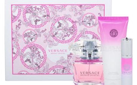 Versace Bright Crystal dárková kazeta pro ženy toaletní voda 90 ml + tělové mléko 100 ml + toaletní voda 10 ml