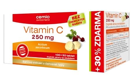 CEMIO Vitamin C 250 mg 100+30 tablet ZDARMA