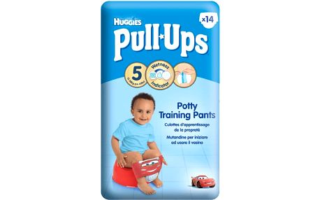 Huggies Pull Ups Medium - Boys 14-18 kg, 14 ks