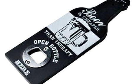 Originální závěsný otvírák ve tvaru lahve. Praktický pomocník na otvírání lahví nejen od piva.