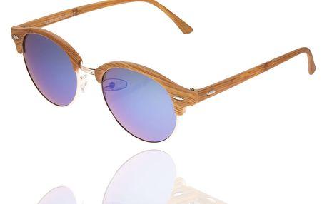Sluneční brýle unisex Wood Sunglasses Blue design dřeva