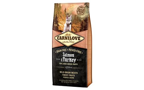 Brit Carnilove Salmon & Turkey for Large Breed Puppy 12kg