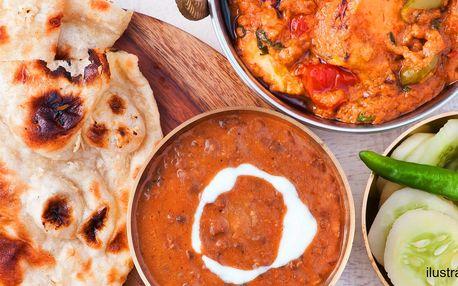 Autentické menu od indických kuchařů pro dva