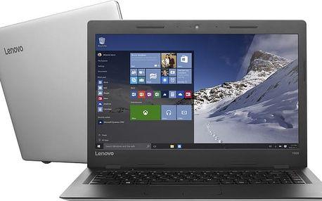 Lenovo IdeaPad 100S-14IBR, stříbrná - 80R9009UCK