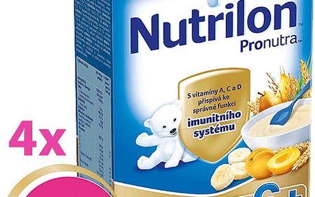 4x NUTRILON ProNutra krupicová s ovocem (225g) - mléčná kaše