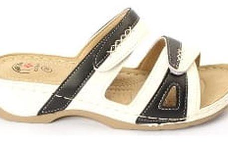 Dámské zdravotní pantofle KOKA bílá/černá